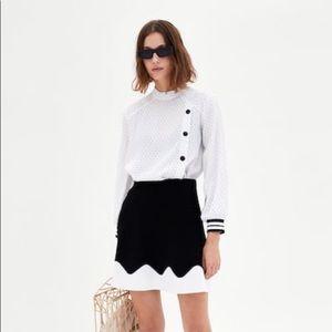 Zara Two-Tone (Black & White) Knit Skirt